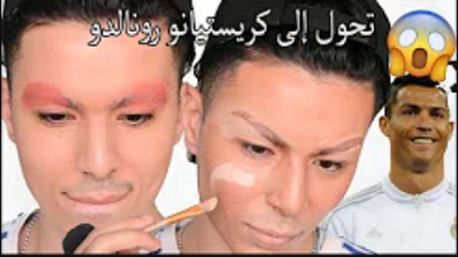 بالفيديو: مغربي يحوّل نفسه إلى كريستيانو رونالدو