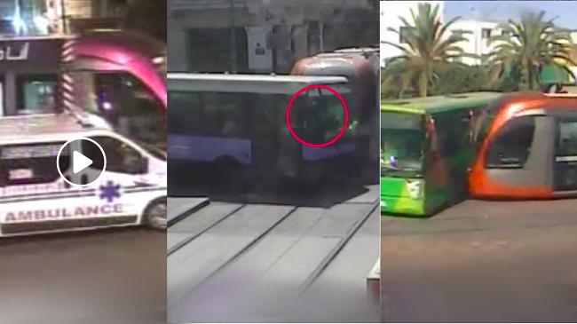 فيديو خطير.. أبشع حوادث الترامواي مع الراجلين والدراجات النارية والسيارات والحافلات