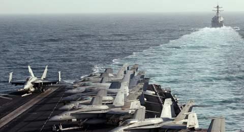 بإسناد جوي... قوات عسكرية إيرانية تدخل سواحل دولة خليجية