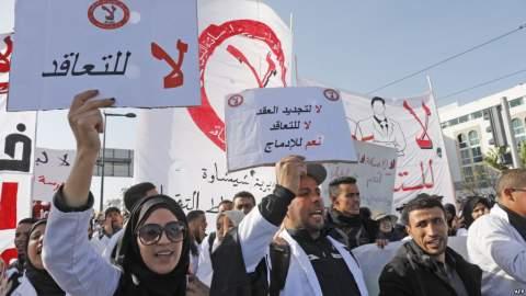 تطورات غير سارة في ملف ''اساتذة التعاقد'' والإضراب مستمر