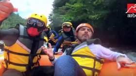 إصابة قوية للفنان وائل جسار في رامز في الشلال