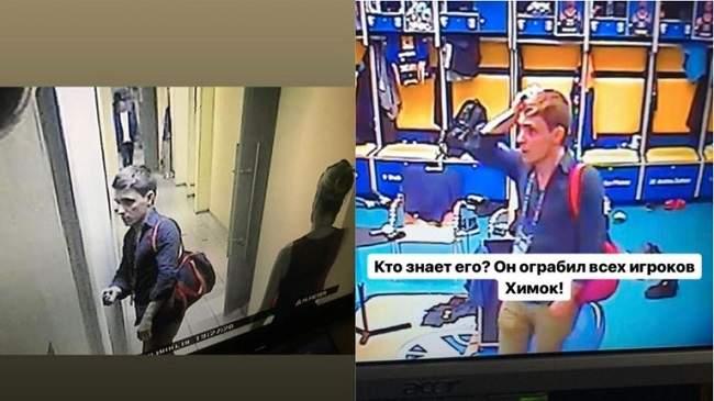 بالفيديو.. مجهول يسرق غرف ملابس اللاعبين تحت عدسة كاميرا المراقبة