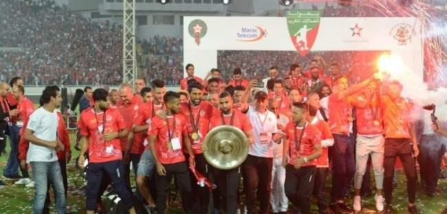 الدار البيضاء.. فريق الوداد الرياضي يتسلم درع لقبه العشرين للبطولة