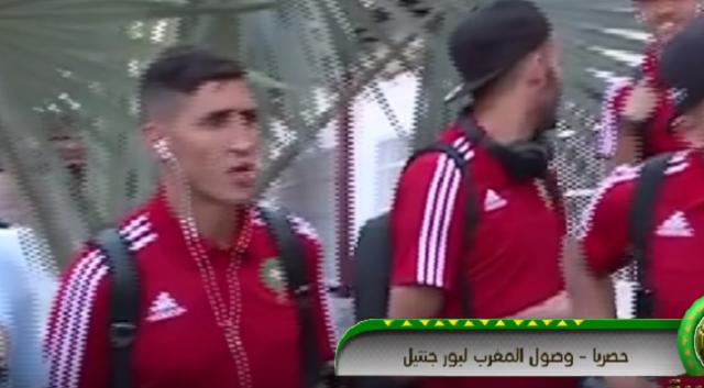 فيديو.. لحظة وصول المنتخب المغربي إلى الأراضي المصرية