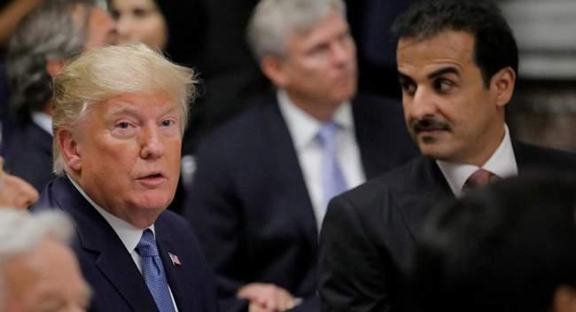 خلال مأدبة عشاء.. ترامب يريد إحراج أمير قطر لكن رد تميم لم يكن متوقعا (فيديو)