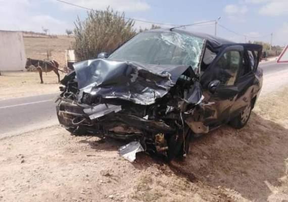 اصابة خمسة أساتذة في حادث خطير قرب آسفي