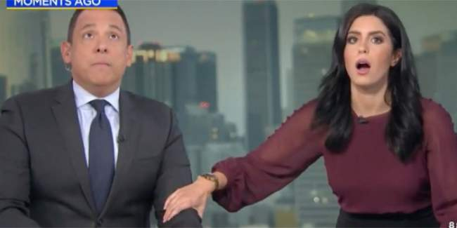 مثير .. شاهد ردة فعل مذيعين امريكيين على الهواء مباشرة لحظة وقوع زلزال