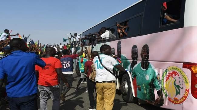 بالفيديو..استقبال جماهيري لأسود السنغال في العاصمة دكار
