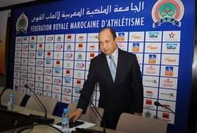 إعادة انتخاب أحيزون بالأغلبية رئيسا للجامعة الملكية المغربية لألعاب القوى