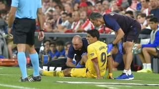 برشلونة يكشف تفاصيل إصابة سواريز