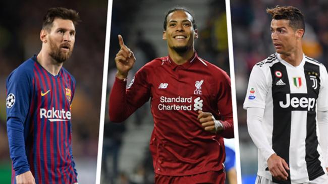 فان دايك يتفوق على ميسي ورونالدو ويحرز جائزة أفضل لاعب في أوروبا