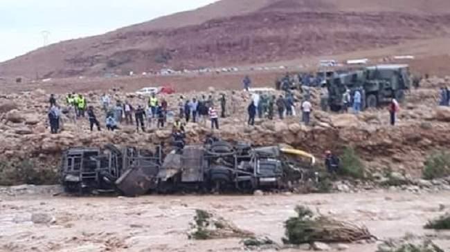 الحصيلة الرسمية لعدد الضحايا في فاجعة حافلة الرشيدية