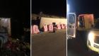 اصابة العشرات اثر انقلاب حافلة للمعتمرين بمدينة الطائف السعودية