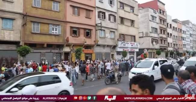 فيديو من أمام المنزل الذي شهد قتل ودفن حنان بحي الفرح.. لحظات قبل إعادة تمثيل الجريمة