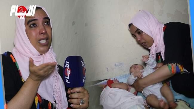 بالفيديو..معاناة سيدة ولدت 4 أطفال خدّج توائم والمستشفى يحتجز أوراقها الرسمية