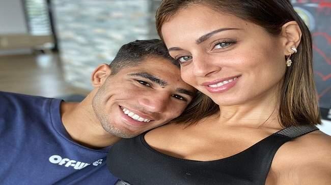شاهد.. صورة جددة لأشرف حكيمي وصديقته التونسية تشعل انستغرام