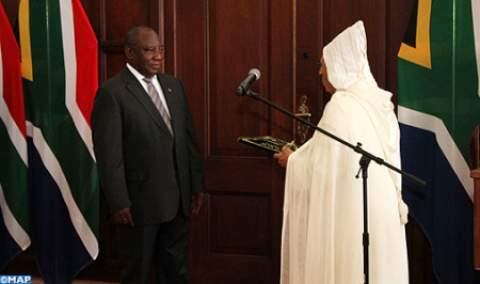 رئيس جنوب إفريقيا يستقبل سفير المغرب